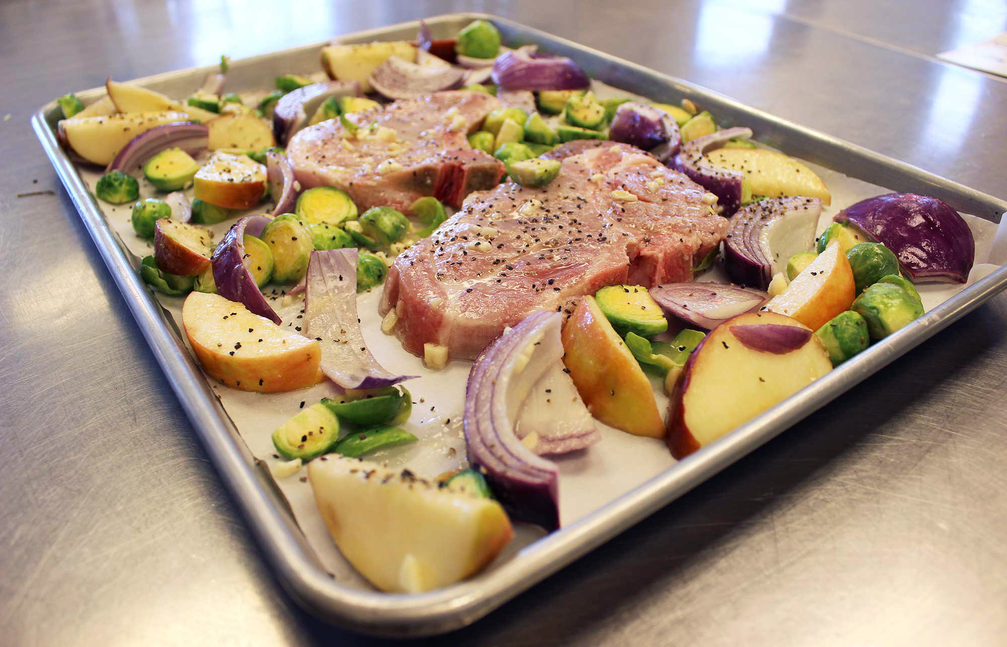precooked sheet pan dinner