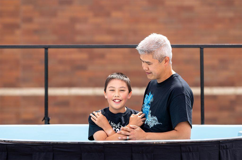 baptism: young boy